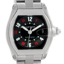 Cartier Roadster Large Mens Steel Vegas Roulette Dial Watch...