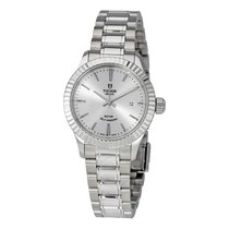 Tudor Style Silver Dial Automatic Ladies Watch