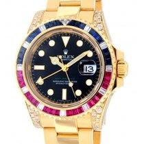 Rolex Gmt II Saru 116748saru Yellow Gold, Diamonds, Zafir,...