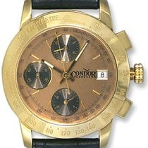 Condor Automatic Chronograph Tachymetre Scale 18k Gold Mens...