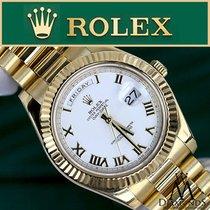 Rolex President Day-date 41mm Unisex 18k Yellow Gold White...
