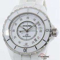 香奈儿 (Chanel) J12 White Ceramic H1629 Diamond Dial Box Papers