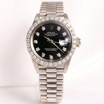Rolex Lady DateJust 6913 Diamond 18K White Gold