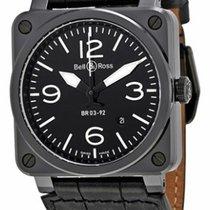 Bell & Ross BR0392-CER-BLP/SCR Aviation BR03-92 in Black...