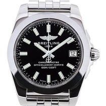 Breitling Galactic 36 Trophy Black Dial Quartz Steel Watch...