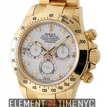 Rolex Daytona 18k Yellow Gold Mother Of Pearl Diamond Dial M...