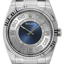 Rolex Oyster Perpetual 36 116034-SVBCDO 36mm Silver Concentric...