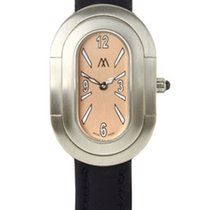 Richard Mille Marcus Ladies Steel Hypo Watch Peach/Black
