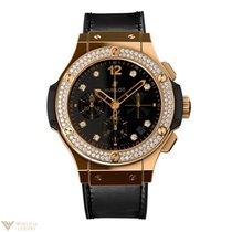 Hublot Big Bang Shiny Diamonds 18K Rose Gold Men`s Watch