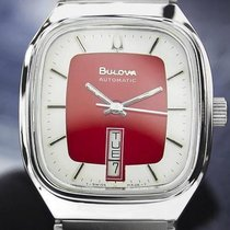 Bulova Day Date Automatic Stainless Steel C.1970s Dn132