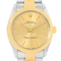 Rolex Oyster Perpetual Steel 18k Yellow Gold Vintage Mens...