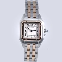 Cartier Panthere Steel and Gold two row