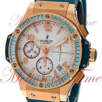 "Hublot Big Bang 41mm Tutti Frutti ""Blue"", White Dial,..."