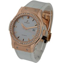 Hublot Classic Fusion 42mm in Rose Gold with Diamond Bezel