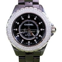 Chanel J12 H2014 Black Ceramic Diamond 42mm Automatic Date 2017