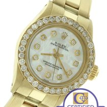 Rolex Oyster Perpetual MOP Diamond 24mm 6719 14K Yellow Gold...