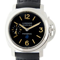 파네라이 (Panerai) New  Luminor Stainless Steel Black Manual Wind...
