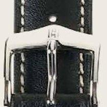 Hirsch Uhrenarmband Heavy Calf schwarz L 01475050-2-24 24mm
