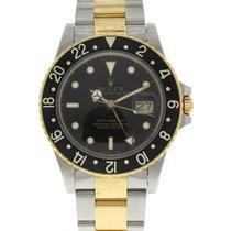 Rolex Men's Rolex GMT Master 16753 18k YG & SS