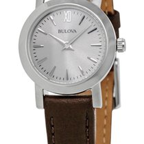 Bulova Classic Stainless Steel Womens Strap Watch Silver Dial...