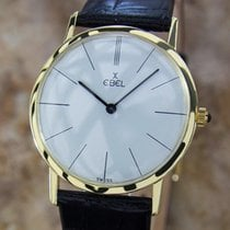 Ebel Rare 18k Gold Swiss 1960s 32mm Watch W Solid 14k Gold...