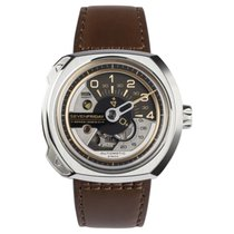 Sevenfriday V-Series Brown Leather Men's