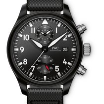 IWC IW389001 Pilots Chronograph - Top Gun in Black Ceramic -...