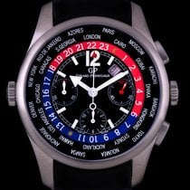 Girard Perregaux Titanium Black Dial World Time Chronograph...
