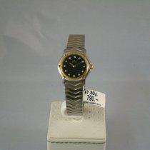 Ebel Classic Wave Stahl/ Gold Damenuhr mit Brill Zifferbaltt