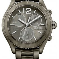 Ebel X-1 Chronograph Grey Dial Grey PVD Steel Men's Watch