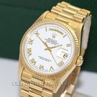 Rolex President Day Date Ref 18238 18K Yellow Gold White Rom