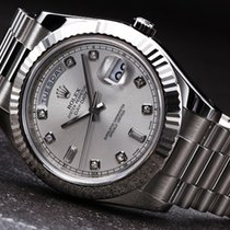 Rolex [NEW+SPECIAL] Day-Date II 218239A Silver (Retail:HK$290,...