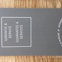 A. Lange & Söhne Garantie & Service Book Heft Manual