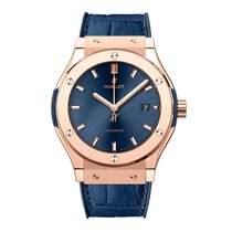 Hublot Classic Fusion 33mm Automatic 18K Rose Gold Mens Watch...
