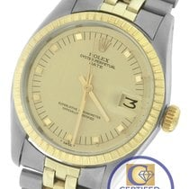 Rolex Date 34mm 1505 Two-Tone Stainless Champagne Jubilee Watch