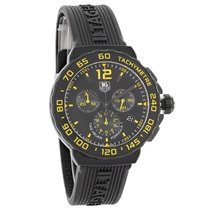 TAG Heuer Formula 1 Mens Black Yellow Swiss Chronograph Watch...