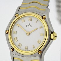 Ebel Classic Steel & solid 18K Gold Ladies Watch White...