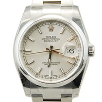 Rolex DateJust Stainless Steel Silver Dial-116200