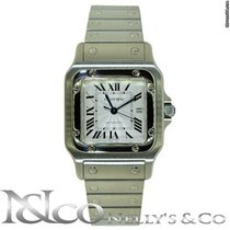 Cartier Santos Galbee on Steel Bracelet