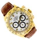 Rolex Yellow Gold Daytona/Leather Strap