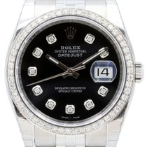 Rolex Datejust 116200 Diamond Black 36mm Stainless Steel...