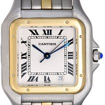 Cartier Panther Men's 2-Tone 1-Row Watch White Dial