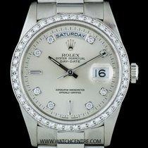 Rolex Platinum O/P Diamond Set Day-Date Gents Wristwatch 18346