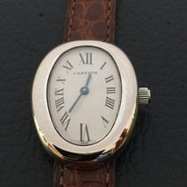 Cartier Baignoire 18k white gold QZ ref.w1516856
