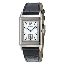 Jaeger-LeCoultre [NEW] Reverso 1931 Silver Dial Black Leather...