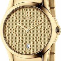 Gucci G-Timeless Small Quartz PVD Yellow Gold Case R