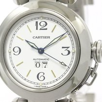 Cartier Polished Cartier Pasha C Big Date Steel Automatic...