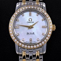 Omega De Ville Prestige 18k Yellow Gold Factory Diamond...