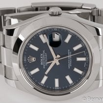 Rolex - Datejust II : 116300 blue dial on heavy Oyster...