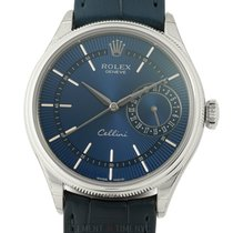 Rolex Cellini Date 18k White Gold Blue Dial 39mm
